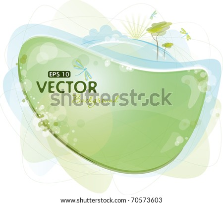 Green and blue eco-design, eps-10 - stock vector