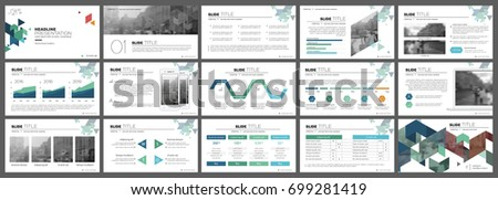 Green and blue elements for infographics on a white background. Presentation templates. Use in presentation, flyer and leaflet, corporate report, marketing, advertising, annual report, banner.