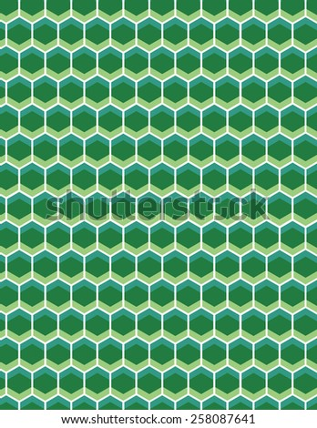 Green and blue honey comb pattern background  - stock vector