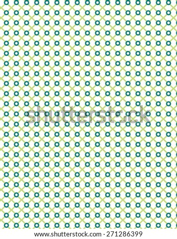 Green and blue line pattern over white color background - stock vector