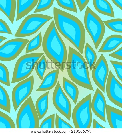 Green and blue seamless pattern in cool colors