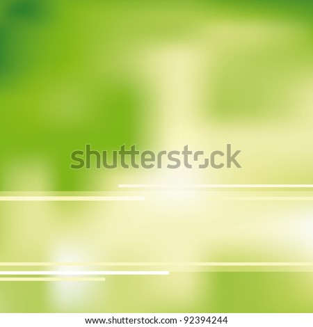 Green and ecological light background - stock vector