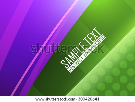Green and purple abstract background - stock vector
