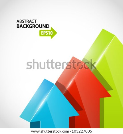 Green and red arrows. Vector. - stock vector