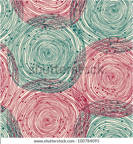 Green and red spiral pattern - stock vector