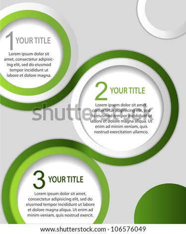 Green and white abstract banners, vector - stock vector