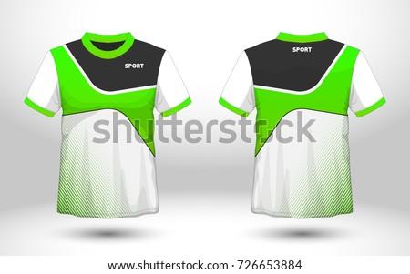 Green white layout football sport tshirt for T shirt sample design