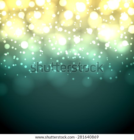 Green and yellow dark vintage bokeh vector background. - stock vector
