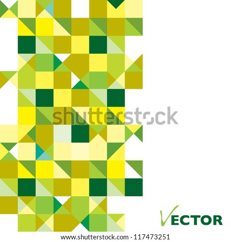 Green and yellow presentation background with space for text - stock vector