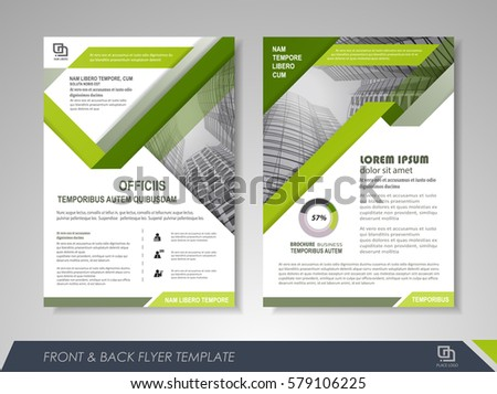 Vector Green Black Flyer Design Layout Stock Vector 489275218