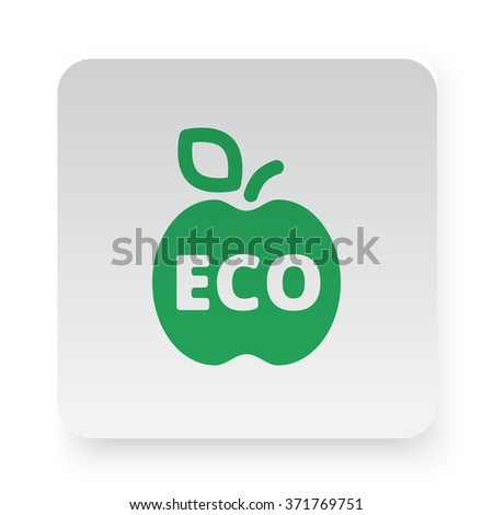 Green Apple icon on white app button