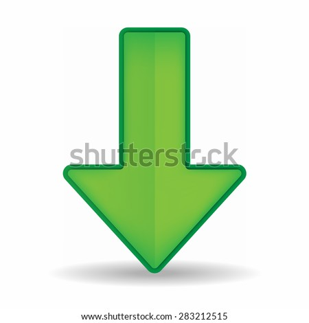 Green arrow - stock vector