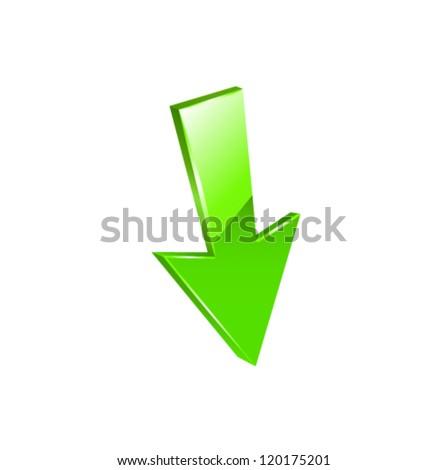 Green arrow icon set. Vector - stock vector