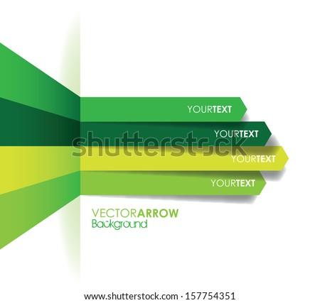 green arrow line background - stock vector