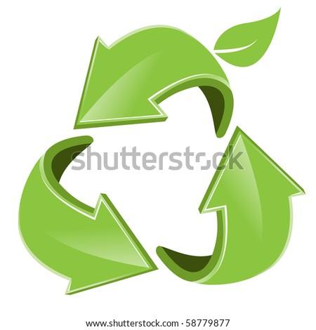 green arrows - stock vector