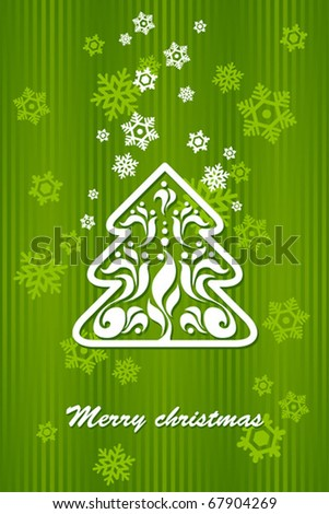 Green background for new year and for Christmas