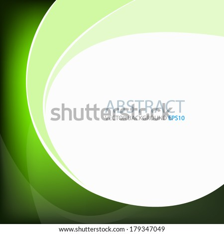 Green background graphic circle curve line for text and message modern web design - stock vector