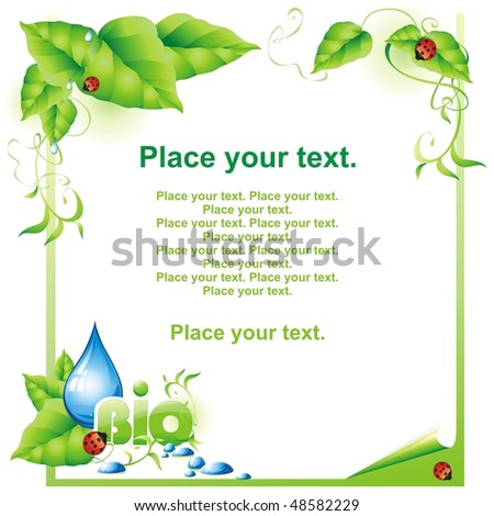 Green background. Vector illustration. - stock vector