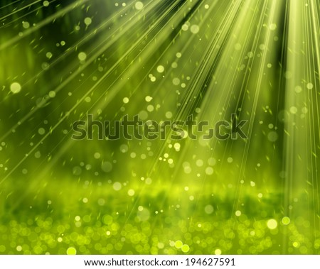 Green Background With Beams, Vector Illustration eps 10 - stock vector