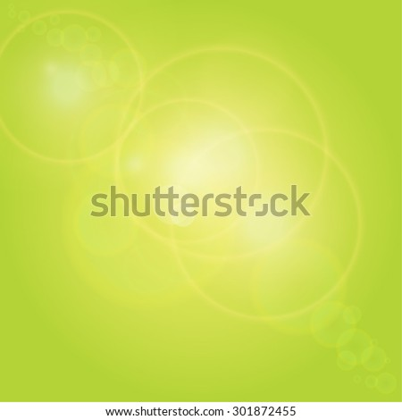 green background with patches of sunlight - stock vector