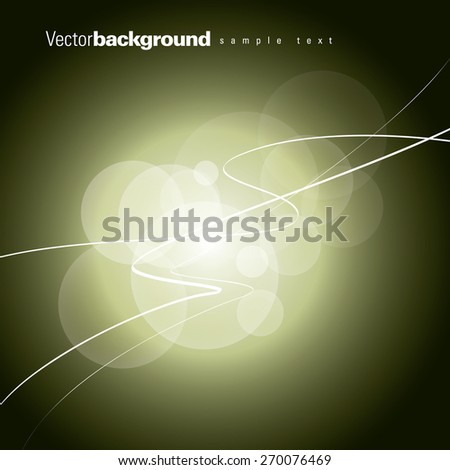 Green background with sparkles. - stock vector