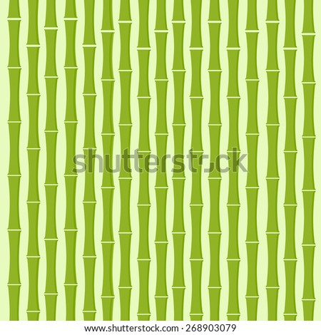 Green Bamboo Tree Background Flat Vector Illustration - stock vector