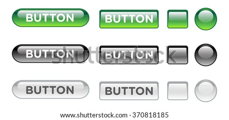 green black white web buttons for website or app. Vector - stock vector