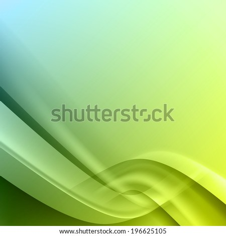 Green blue abstract background with light lines and shadows.
