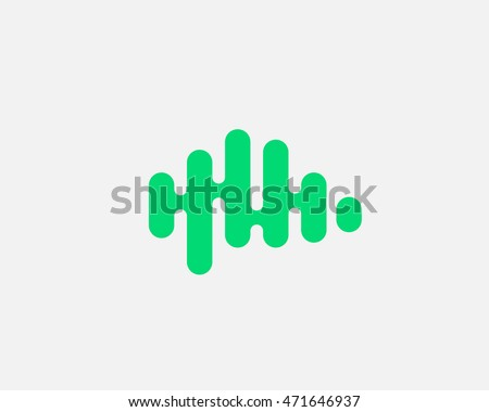 green brain logo generate idea design template color music sound wave sign universal real - Idea Design