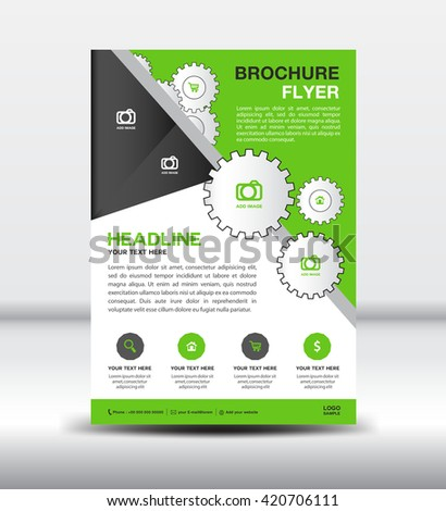 Green Flyer Template Green Brochure Flyer Templatenewsletter Design