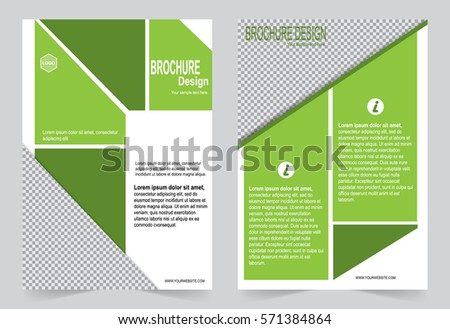 Green Brochure Template Flyer Design Abstract Stock Vector