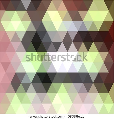 Green brown triangle abstract background