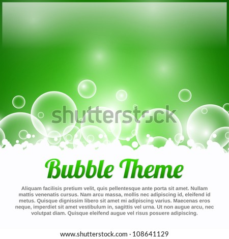 Green Bubble Theme