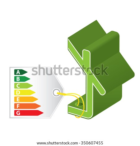 Green building concept. Sustainable architecture and construction. - stock vector