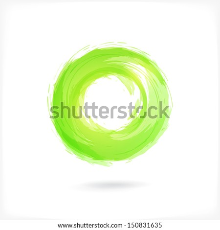 Green Business Abstract Circle icon. vector logo design template for Corporate, Media, Technology style. - stock vector