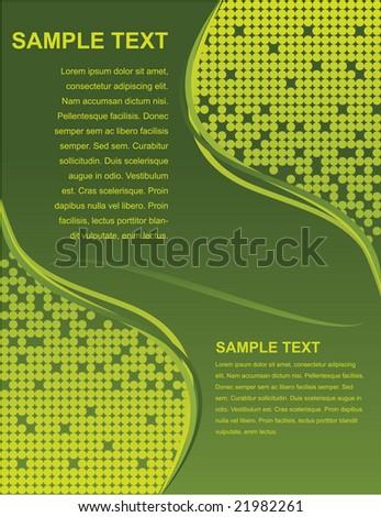 Green business template - stock vector