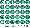 green button - stock vector