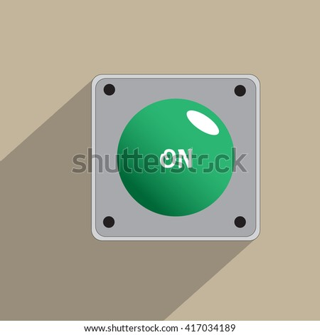 Green button On Icon