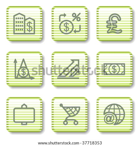 Green button with icon 23 - stock vector
