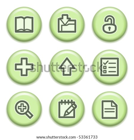 Green buttons with icons 6
