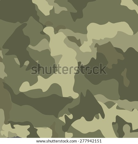 Green camouflage. Military vector background. - stock vector