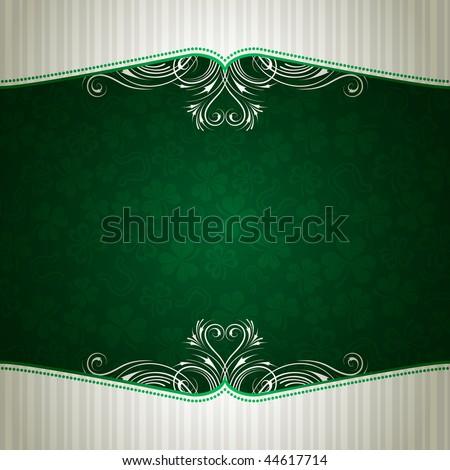 green card with shamrock, vector illustration - stock vector