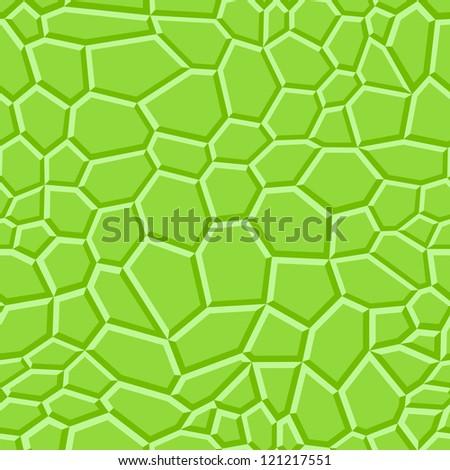 Green cells background, look like snake skin - stock vector