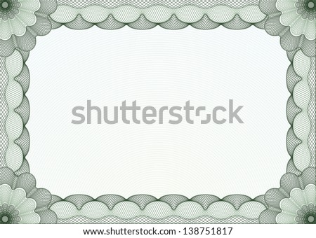 Green certificate diploma template complex border stock vector green certificate or diploma template complex border and background yadclub Image collections