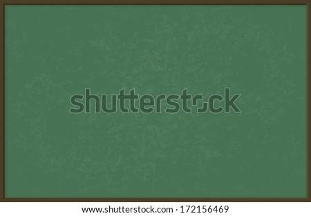 Green chalkboard / blackboard, vector illustration - stock vector