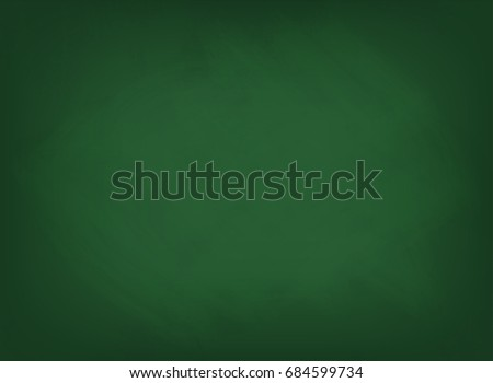 green chalkboard texture school board background with traces of chalk vector
