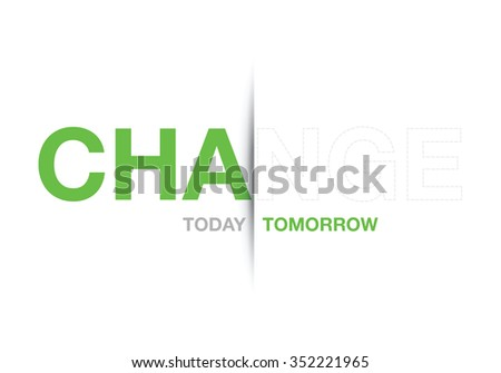 green change abstract background - stock vector