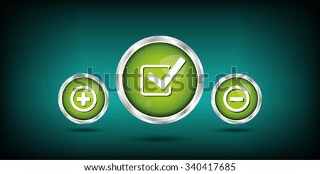 green check mark - stock vector