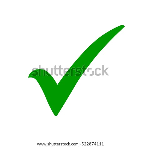 Green Check Mark Icon Tick Symbol Stockvector 522874111 Shutterstock