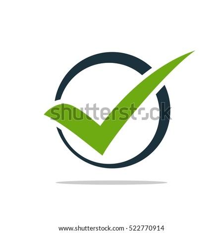 green check mark logo template stock vector 522770914 shutterstock rh shutterstock com check mark logo silver black checkmark logo